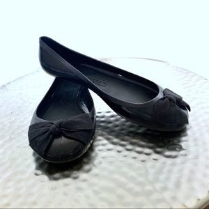 J. Crew Rainy Day jellies ballet flats black #367